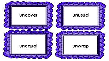 Prefixes - re and un