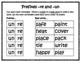 Prefixes -re and -un