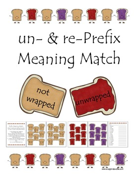 Prefixes re and un Meaning Match Sandwhiches