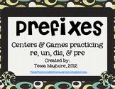 Prefixes- re, dis, pre, un