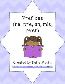 Prefixes (re, pre, un, mis, over)