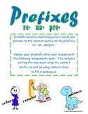Prefixes (re-, un-, pre-)