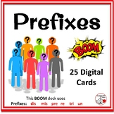Prefixes ... re, un, pre, dis, tri, mis ... in Context: BOOM™ DIGITAL Cards