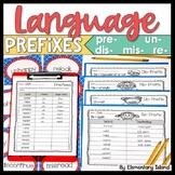 Prefixes - re, un, pre, mis, dis / Centers or Whole Group