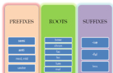 Prefixes, suffixes, roots by Term