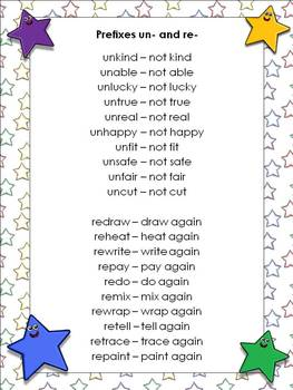 Prefixes un- and re- Matching Game Sort - King Virtue