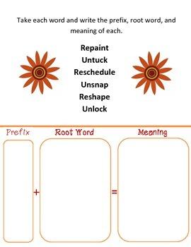 Prefixes (un and re unit)