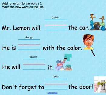 Prefixes un & re