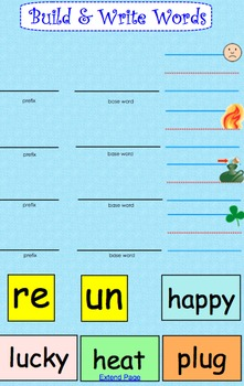 Prefixes un & re