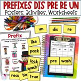 Prefixes un-, re-, pre-