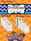 Préfixes Worksheets + FREE Memory Game BONUS