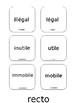 Préfixes Worksheets + FREE Memory Game BONUS
