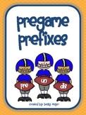 Pregame Prefix Word Work Game