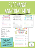 Pregnancy Announcement to Staff - My Teaching Partner is Pregnant Contract