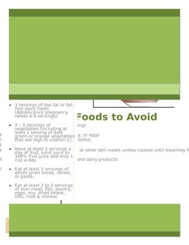 Pregnancy Nutrition Handout