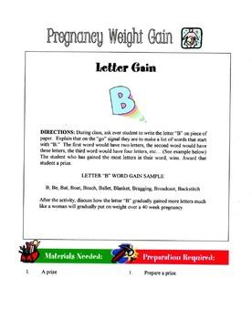 Pregnancy Weight Gain Lesson