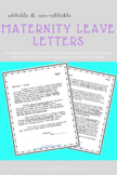 Maternity Leave Letter Pack (editable)