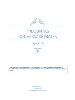 Preguntas Conversacionales Capítulo 3A Realidades 2