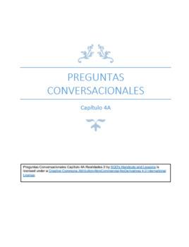 Preguntas Conversacionales Capítulo 4A Realidades 2