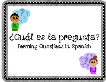 Preguntas- Forming Questions in Spanish