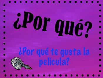 Preguntas Spanish Question Words Posters