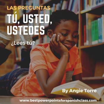 Spanish Preguntas Tú, Usted, Ustedes PowerPoint