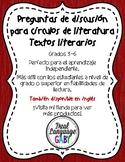 Preguntas de discusión para círculos de literatura par textos literarios