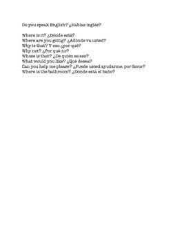 Preguntas en español