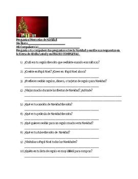 Preguntas y Memorias de Navidad
