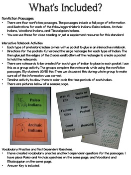 Prehistorc Indians { Paleo, Archaic, Woodland, & Mississippian Indians}