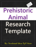 Prehistoric Animal Research Template