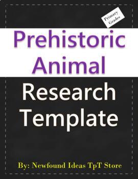 Prehistoric Animal Research Template
