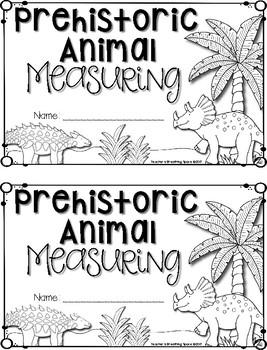 Prehistoric Animals Measuring Book FREEBIE --- Measuring Dinosaurs & MORE!