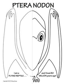 Prehistoric Animals Symmetry Activity