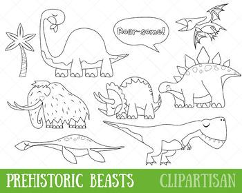 Dinosaurs Clip Art, Prehistoric Animals