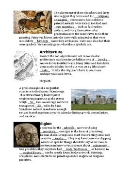 Prehistoric Art Lesson Papers