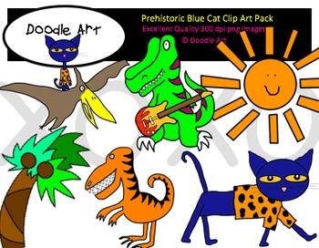 Prehistoric Cat Clipart Pack