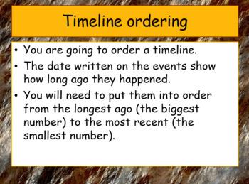 Prehistoric Britain Timeline ordering activity (focus on ordering numbers)