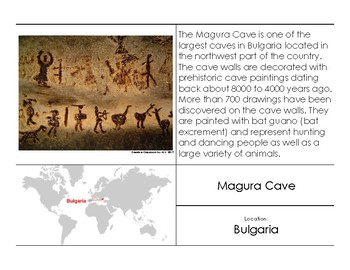 Prehistoric Cave Paintings 5-Part Cards
