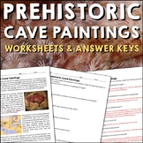 Prehistoric Cave Paintings Reading Worksheets and Answer Keys
