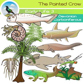 Prehistoric Clip Art - Devonian - Carboniferous