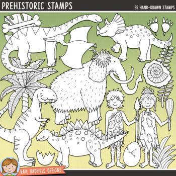 """Dinosaur Clip Art: """"Prehistoric"""""""