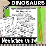 Dinosaur Prehistoric Fun Unit- Non-Fiction- Common Core Aligned