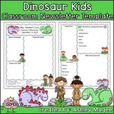 Prehistoric Dinosaur Kids Editable Classroom Newsletter Template