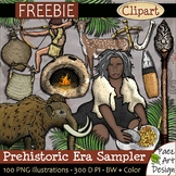 Prehistoric Era Clip Art Sampler FREEBIE {PaezArtDesign}
