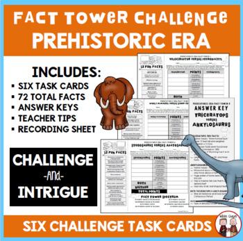Prehistoric Era Interactive Fact Towers Activity