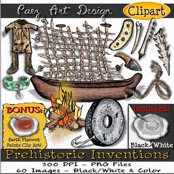 Prehistoric Inventions & Discoveries Clipart {Paez Art Design}