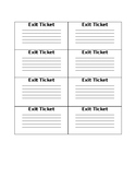 Printable Exit Tickets