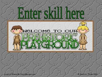 Prehistoric Kids PowerPoint Game Template