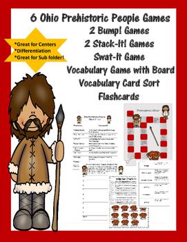 Prehistoric Indians of Ohio Games - 6 Games Plus Vocab